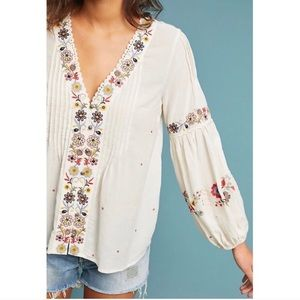 c5e0359e7b6c2 Anthropologie Tops - Anthropologie Carthage Embroidered Peasant Top NWT